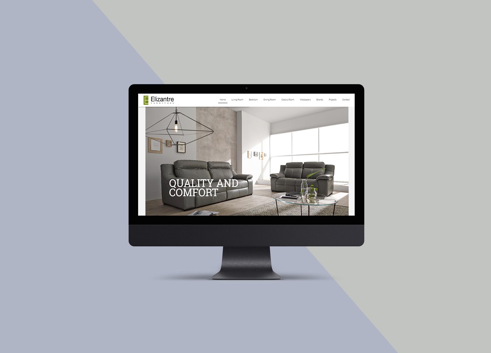 Branding Box: Website Elizantre Furniture