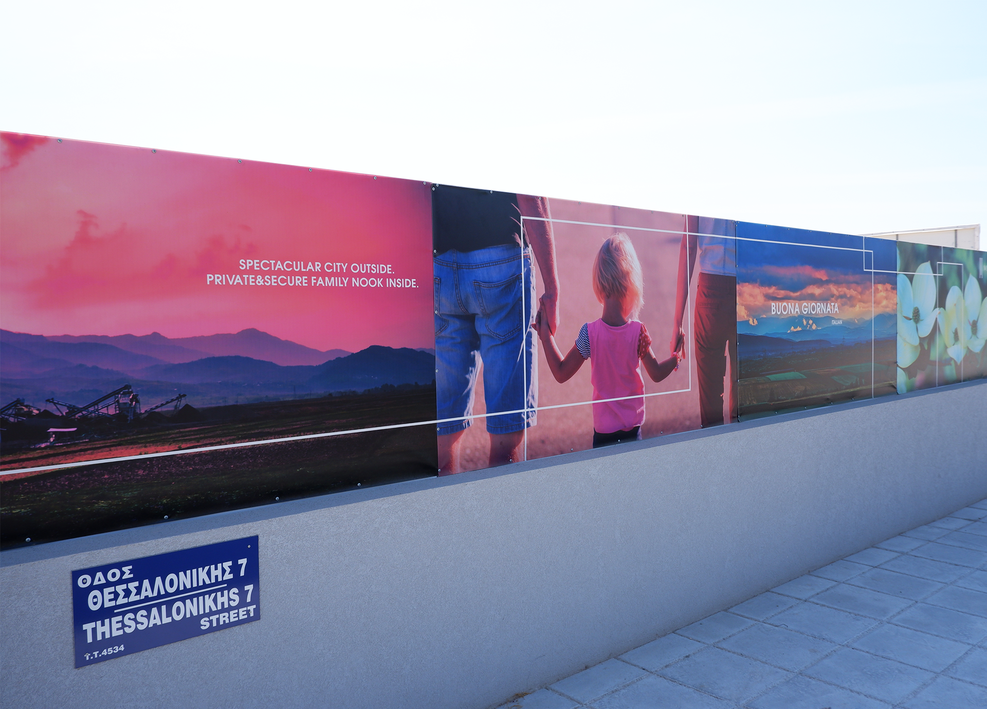 Branding Box: Hoarding design for Marr Villas project