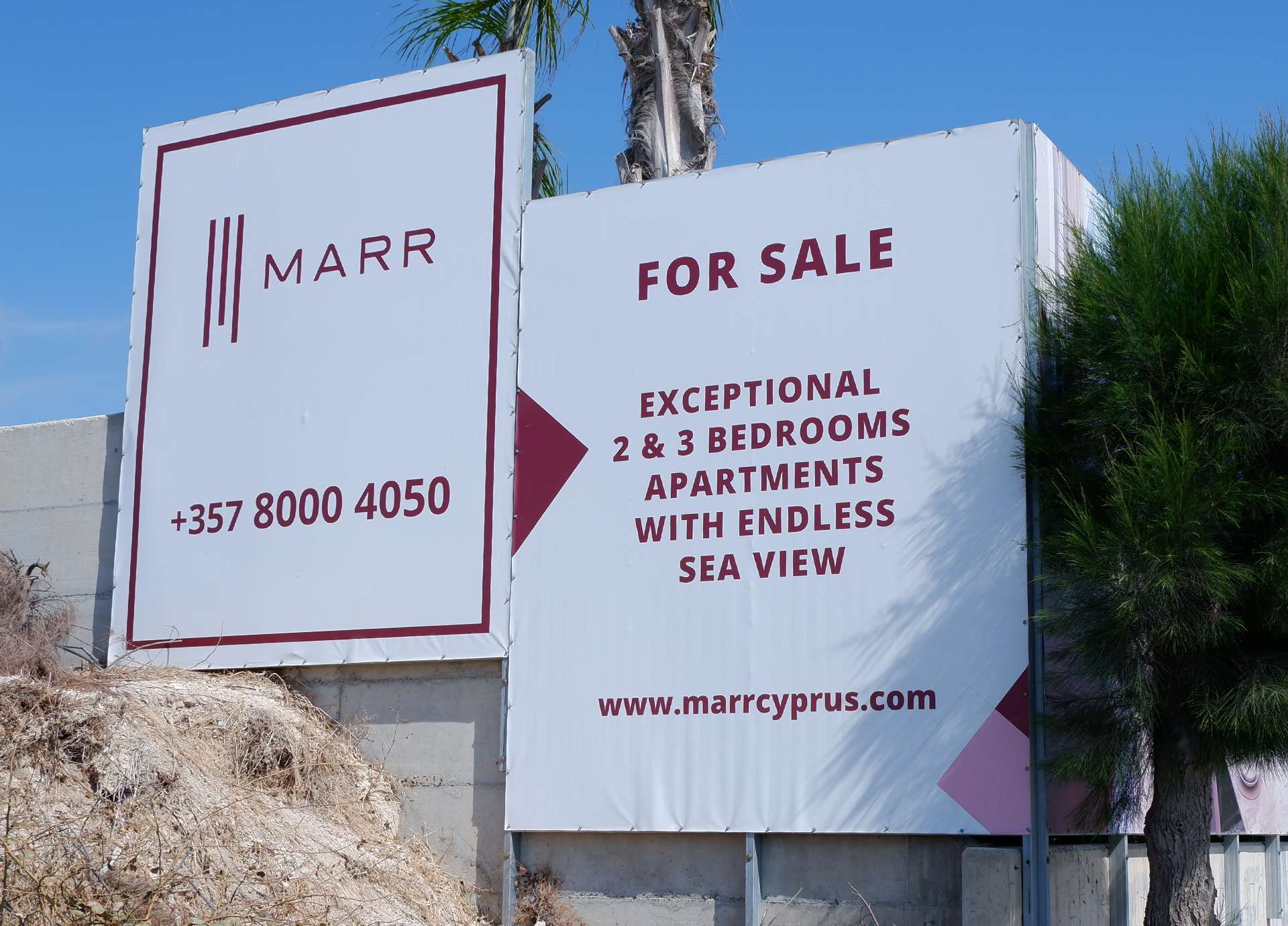 Branding Box: Hoarding design for Marr Villas project
